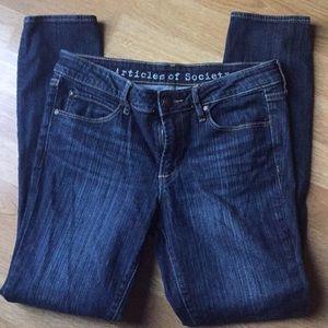 Nice blue denim skinny jeans